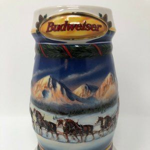 BUDWEISER 2000 Holiday in Mountains Beer Stein